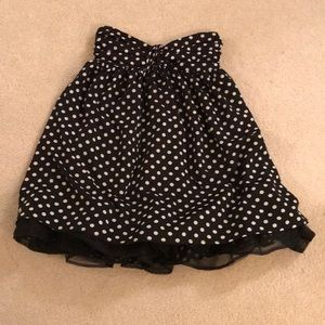 Forever 21 Size S Black/White Polka Dot Dress